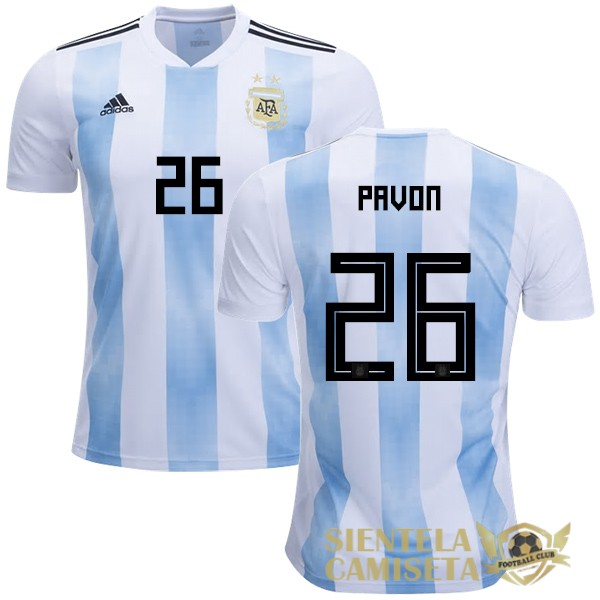 argentina 18 camiseta pavon local
