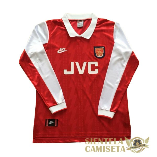 arsenal retro manga larga primera 1994 camiseta