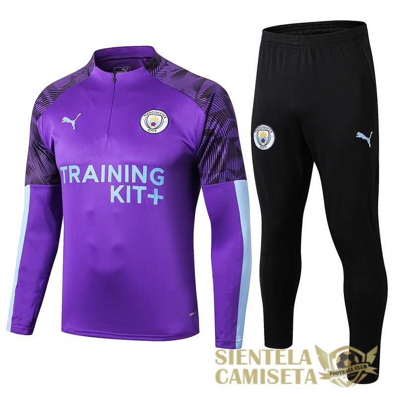 manchester city purpura 2019 2020 cremallera chandal