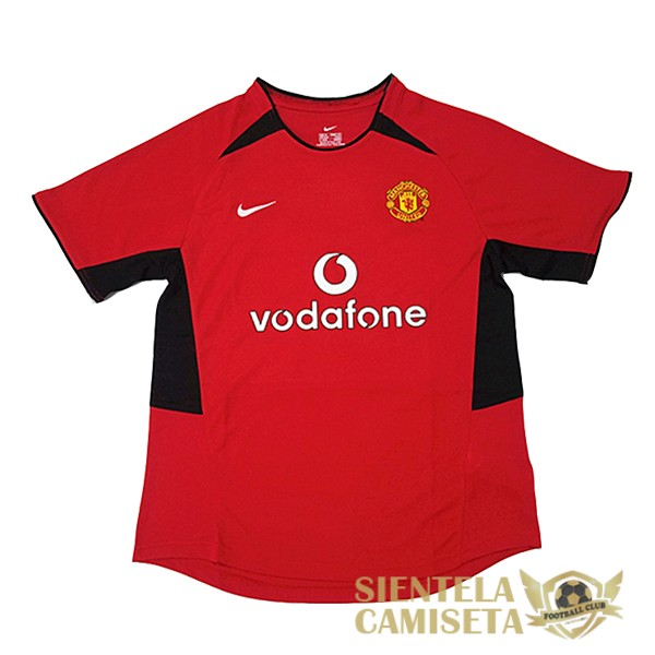 manchester united 2002 camiseta retro local