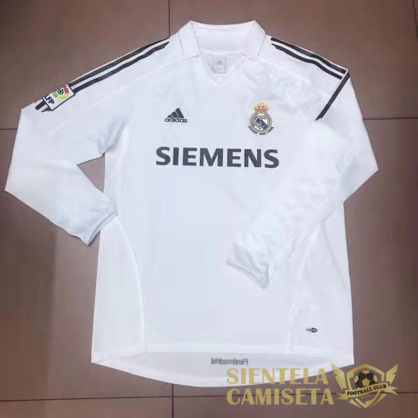 real madrid 2006 camiseta manga larga retro local