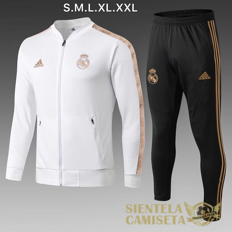 real madrid blanco 2019 2020 chaqueta