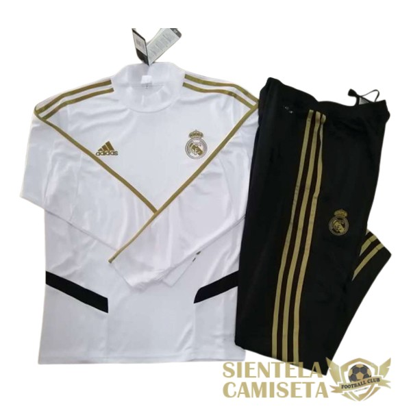 real madrid blanco 2019 2020 cuello alto chandal